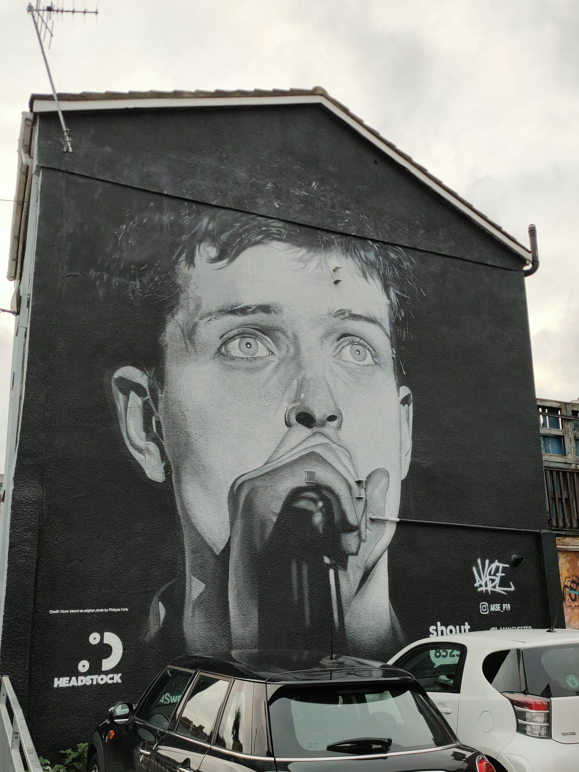 Ian Curtis mural Manchester