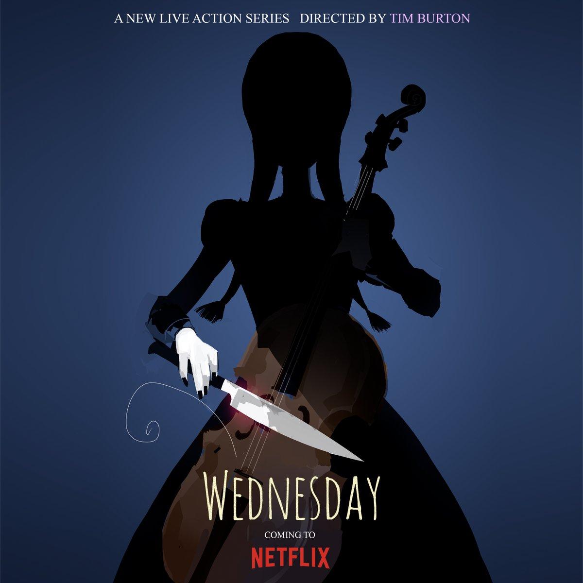 Wednesday Netflix by Tim Burton